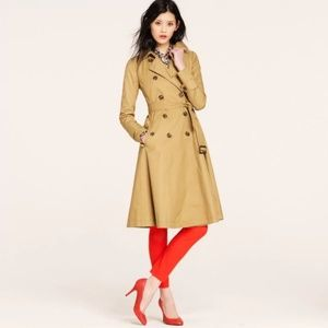 J Crew collection encore trench with tulle